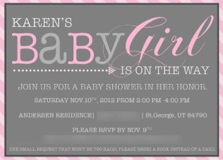Baby Shower Invitation 2012
