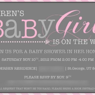 Baby Shower Invitation 2012